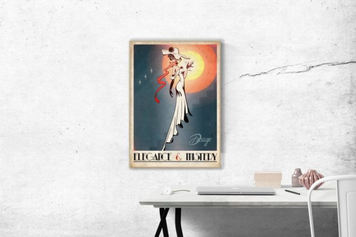 Elegance and mistery poster Decage