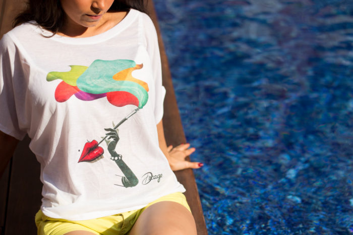 Camiseta Decage Smoke Lips