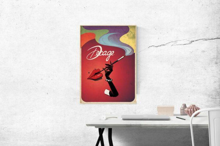 "Poster Vintage Decage ""Lips"""