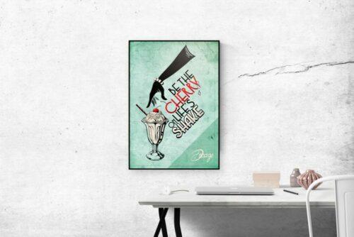 """Poster Vintage Verde Decage """"Shake"""""""