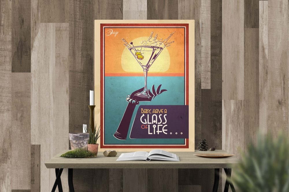 Decage glass of life poster