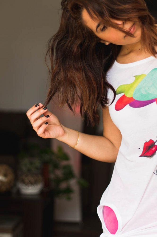 "Camiseta Vintage Decage ""Lips"""