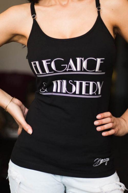 "Camiseta Decage Tirantes Negra ""Elegance"""