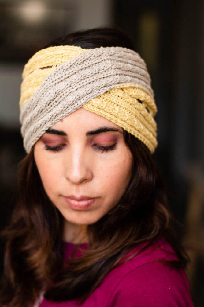 Bandana tejida para el pelo tejida Decage