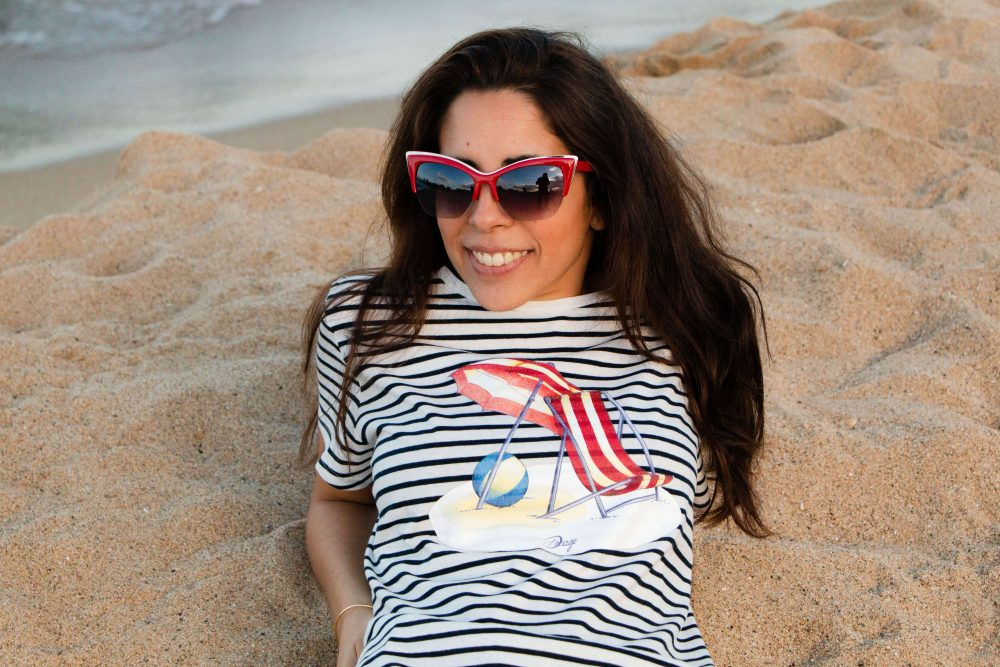 """Camiseta marinera Decage rayas manga corta """"Playa Vintage"""""""