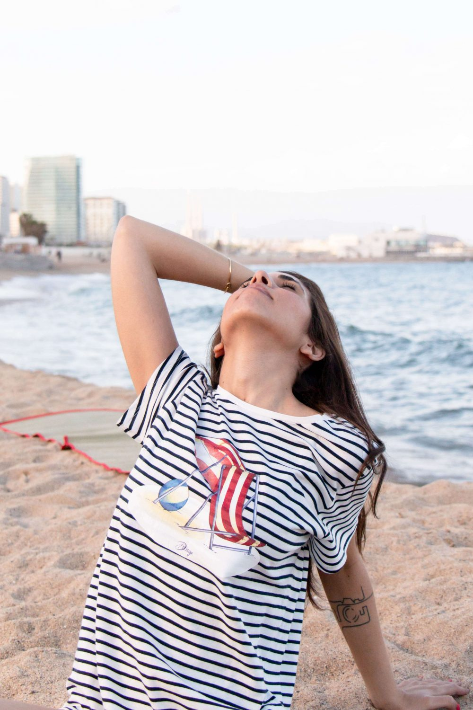 Camiseta marinera manga corta