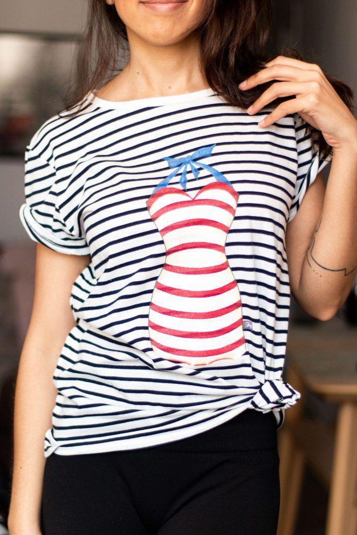Camiseta marinera Decage bañador