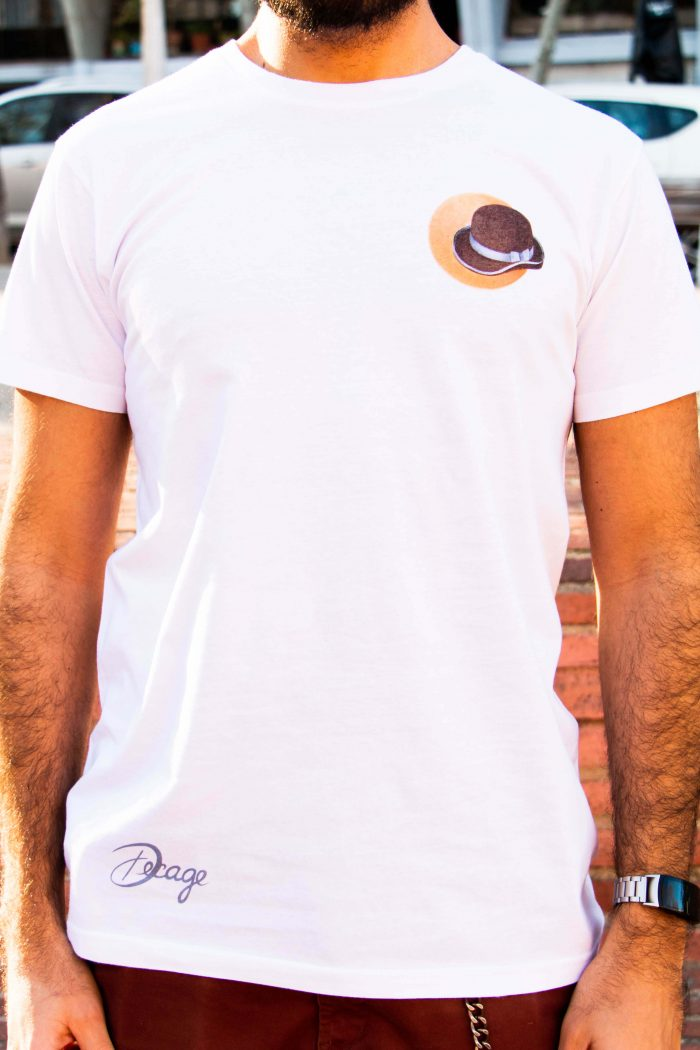 camiseta blanca decage mr decage