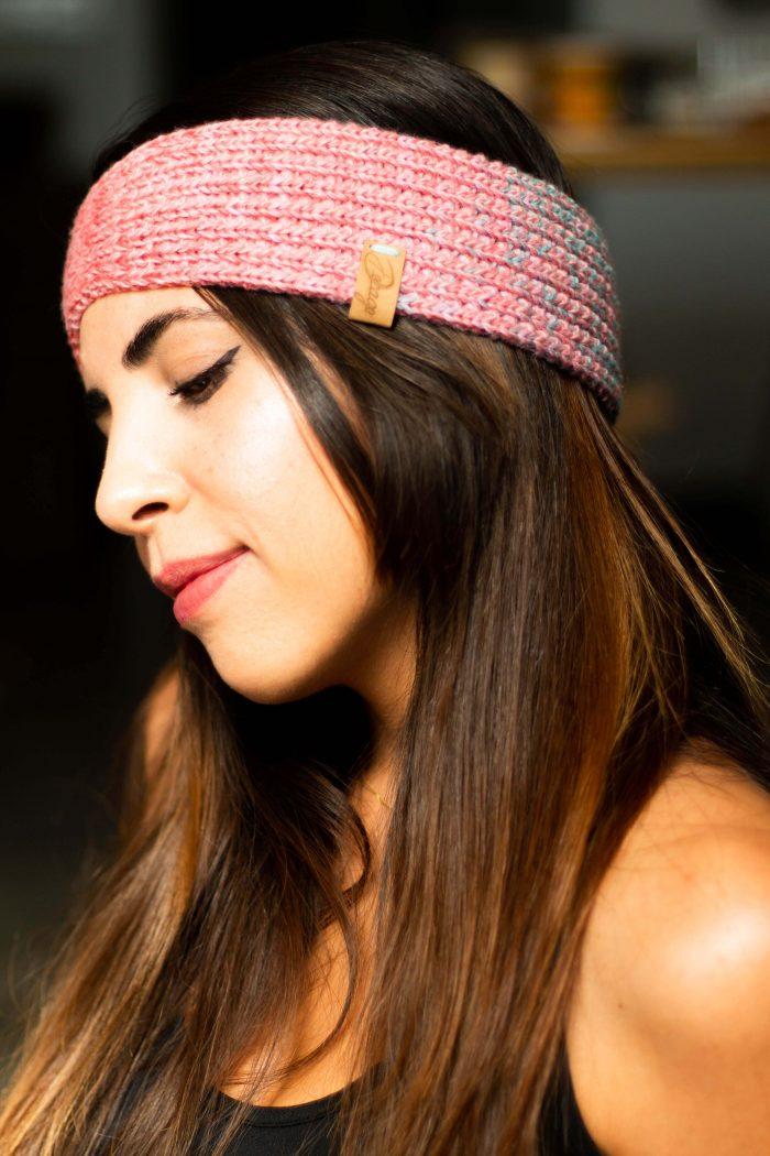 bandana de algodón tejida para el pelo