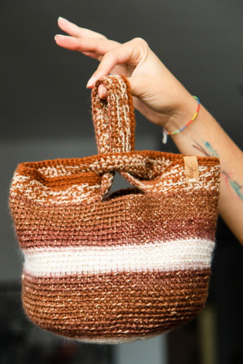 cartera tejida de algodón decage designs